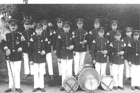 Das Tambourkorps 1933 beim Erntedankfest