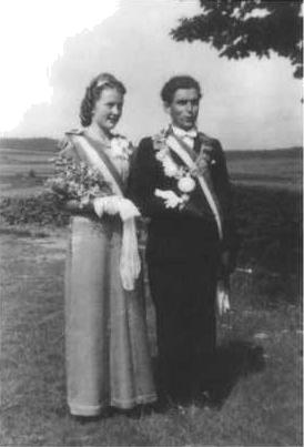 Schützenkönig Karl Reuter mit Königin Anneliese