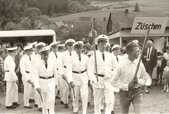 Schützenfestumzug in Medelon 1964