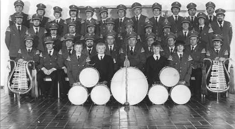 Der Spielmannszug im Jubiläumsjahr 1981, 44 Mitglieder