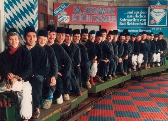 Ausflug ins Berchtesgadener Salzbergwerk 1981